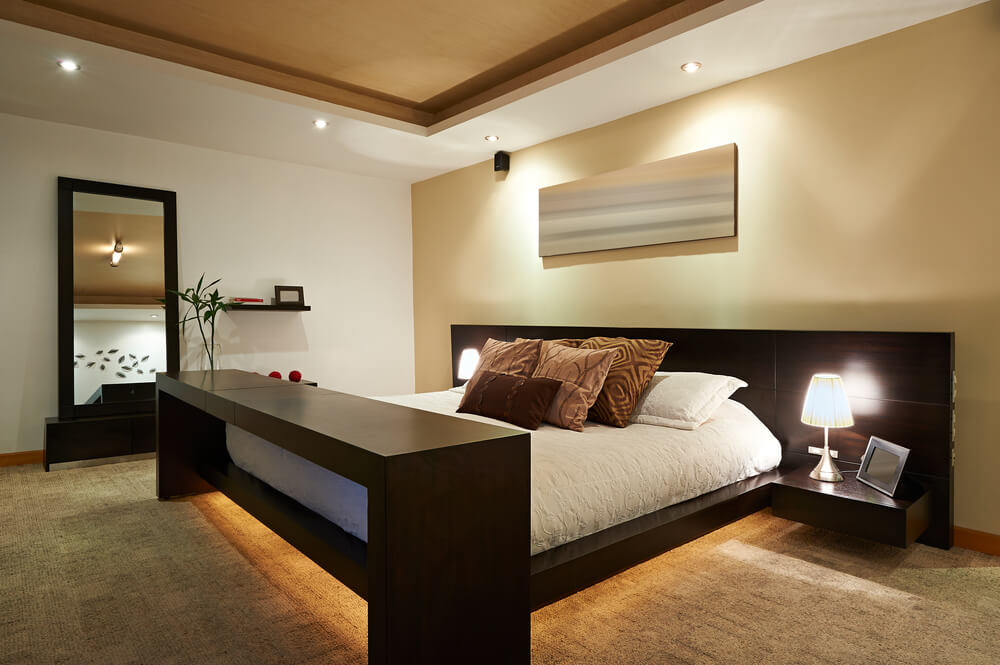 bedroom interior lighting