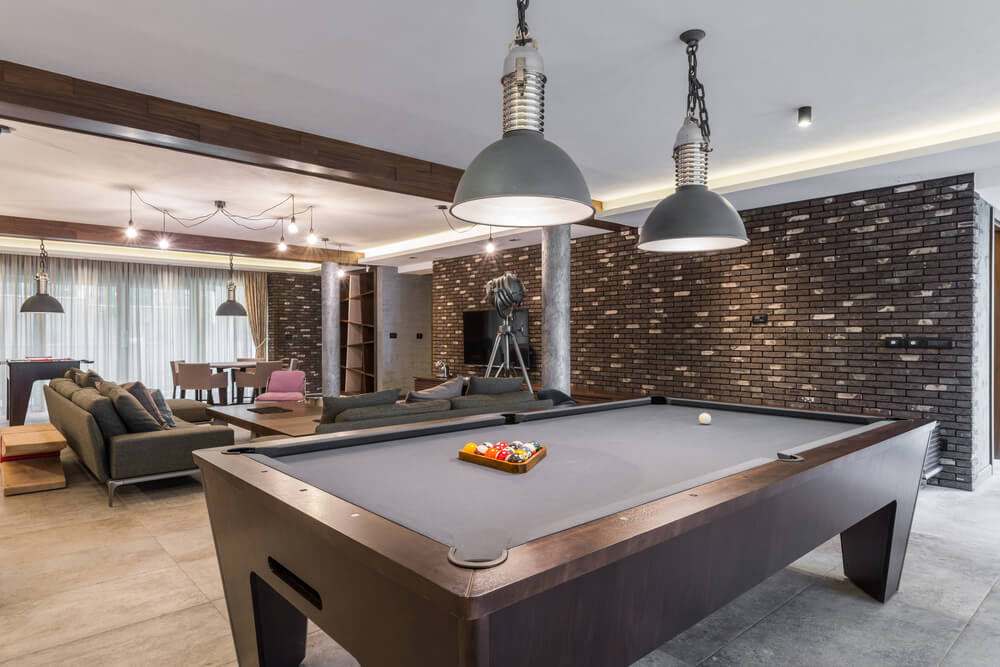 game room interior lighting